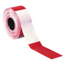 Afzetlint rood/wit geblokt 8cm x 500m scheurvast