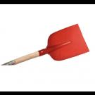 Betonschop ATLAS rood gelakt met batsesteel 130cm