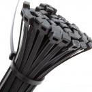 Bundelband 7,5x300mm zwart, 100stuks