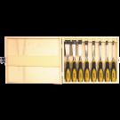 Houtbeitelset COSMOS 8-dlg in houten kist