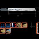 Decoupeerzaag ROTEC DC190 negatieve tanden hout/knstof 74mm, 5stuks
