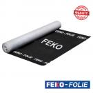 Dampdoorlatende FEKO-Folie 1,5x50m 160gr/m2 spinvlies PP zwart, 75m2