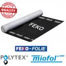 Dampdoorlatende FEKO-Folie 3x50m 115gr/m2 spinvlies PP zwart, 150m3