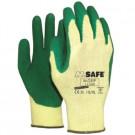 Hoveniershandschoen M-GRIP latex groen maat S/7, 12paar