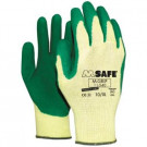 Hoveniershandschoen M-GRIP latex groen maat L/9, 12paar