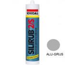 Siliconenkit SOUDAL silirub-2 310ml alu-grijs, 15stuks