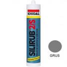 Siliconenkit SOUDAL silirub-2 310ml grijs, 15stuks