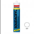 Acrylkit SOUDAL soudacryl 310ml wit, 15stuks