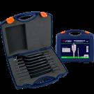 Speedborenset ROTEC heavy duty 8-delig in PVC koffer 12, 14, 16, 18, 20, 22, 25 en 32mm