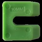 Uitvulplaatjes U-vorm 10mm groen 80stuks