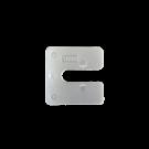 Uitvulplaatjes U-vorm 1mm transparant 480stuks