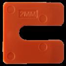 Uitvulplaatjes U-vorm 2mm oranje 240stuks