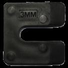 Uitvulplaatjes U-vorm 3mm zwart 192stuks