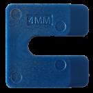 Uitvulplaatjes U-vorm 4mm blauw 144stuks