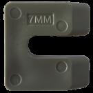 Uitvulplaatjes U-vorm 7mm grijs 96stuks