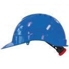 Veiligheidshelm M-SAFE blauw met binnenwerk en draaiknop