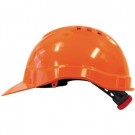 Veiligheidshelm M-SAFE oranje met binnenwerk en draaiknop