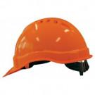 Veiligheidshelm M-SAFE oranje met binnenwerk en schuifinstelling